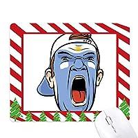 顔のメイクを叫んでアルゼンチンキャップ ゴムクリスマスキャンディマウスパッド