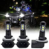 SecosAutoparts Upgrated LED Headlight Bulbs 270W For Polaris Sportsman 500 550 570 600 700 800 850 XP 3PCS