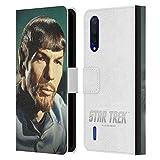 Head Case Designs Licenciado Oficialmente Star Trek Espejo Spock Carcasa de Cuero Tipo Libro Compatible con Xiaomi Mi 9 Lite