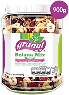 Caja con 6 Botes Botana Mix Natural De Granut Mix Con 900g C/u Snack Saludable