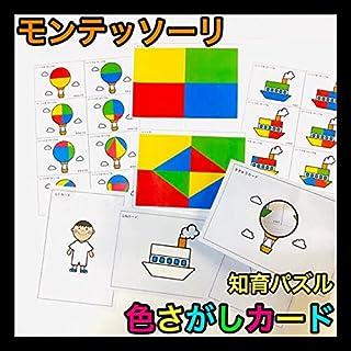 モンテッソーリ パズル 色さがしカード知育玩具 保育教材 発達療育 リハビリ