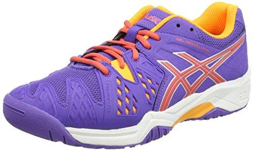 ASICS Unisex-Kinder Gel-Resolution 6 GS Outdoor Fitnessschuhe, Violett (Lavender/Hot Coral/Nectarine 3306), 39 EU