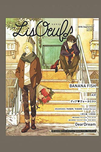 Banana Fish Notebook: Ash And Eiji (110 Pages, Lined, 6 x 9)
