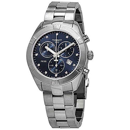Tissot Damen-Uhren Analog Quarz One Size Edelstahl 87695671