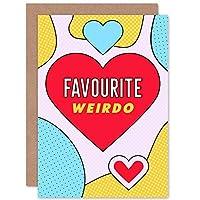 Pop Art Love Favourite Weirdo Heart Sealed Greeting Card Plus Envelope Blank inside 愛 奇妙な ハート