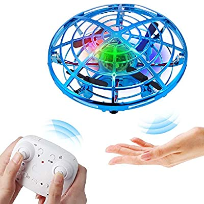 BIBIELF Flying Toy Drone for Kids, Remote Control Hands Drone with Colorful LED Lights for Boys Girls - Blue from Bibielf