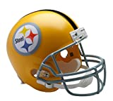 Riddell NFL Pittsburgh Steelers Helmet Replica Full Size VSR4 Style 1962 Throwback, One Size, Team Color