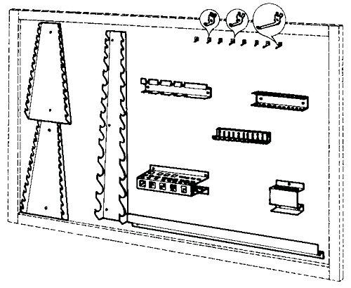 Samoa work master - Kit js7 accesorio estandar para panel armario