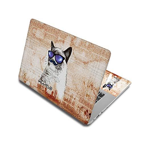 Calcomanía de vinilo para portátil de 38 x 27 cm, diseño de cachorro de 15 pulgadas, 17 y 13 pulgadas, para cubierta de ordenador portátil de 38 x 27 cm.