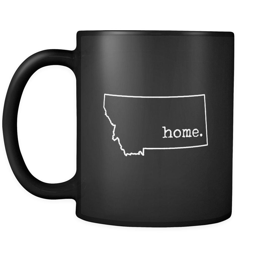 モンタナ州の状態コーヒーマグ–MT状態ホームアウトラインセラミックコーヒーカップ–ブラック–11オンス