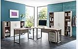 Büromöbel Arbeitszimmer komplett Set OFFICE EDITION (Set 5) in Sandeiche / Weiß