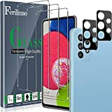 Ferilinso [5 Stück] 3 Stück Panzerglas Schutzfolie + 2 Stück Kamera Panzerglas Displayschutzfolie für Samsung Galaxy A52 4G&5G/ A52s 5G [Kompatibel mit Handy Hülle][9H Härte] [2.8D Rand]