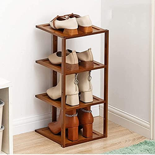 XYCSM Pastel de Zapatos de 4 Niveles, Ahorro de Espacio para Guardar Estanterías de Zapatos de Pie, Torre de Zapatos de Entrada, Estante de Alenamiento en Casa para Zapatos, Libros,