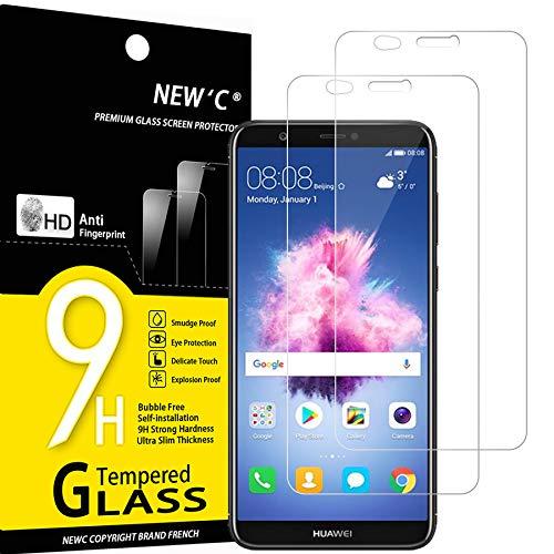 NEW'C 2 Stück, Schutzfolie Kompatibel mit Huawei P smart panzerglasfolie, Frei von Kratzern, 9H Härte, HD Displayschutzfolie, 0.33mm Ultra-klar, Ultrabeständig