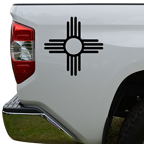 Rosie Decals Zia Native American Sun Die Cut Vinyl Decal Sticker for Car Truck Motorcycle Window Bumper Wall Decor Size- [6 inch/15 cm] Tall Color- Matte Black