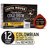 JAVA HOUSE Cold Brew Coffee, Colombian Medium Roast, Enjoy Hot or Iced, K Cup Coffee Concentrate...