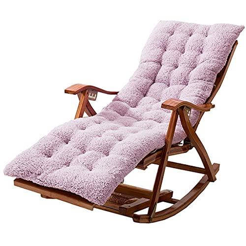 Sedia a Sdraio Pieghevole Sedie reclinabili da Giardino Sedie reclinabili in bambù Regolabili Sedia a Dondolo con braccioli Cuscino per Massaggio ai Piedi e batuffolo di Cotone