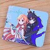 No Anime Monedero Colorido PU Monedero Corto para Bolsa de Dinero de Regalo Sword Art Online