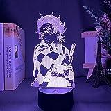 Kimetsu no Yaiba Tanjiro Kamado figura luz de noche 3D para decoración de dormitorio de niños luz de...