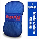 Bugs N All Car Care Bug Sponge with Ultra Soft Nano Microfiber Mesh for Scratch Free Scrubbing & Cleaning of Bugs, Road Grime, Tar, Pine and Tree Sap Pitch. 1 Sponge