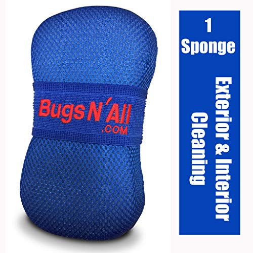 Bugs N All Car Care Bug Sponge with Ultra Soft Nano Microfiber Mesh for Scratch Free Scrubbing & Cleaning of Bugs, Road Grime, Tar,...