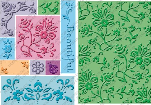 Cuttlebug All-in-One Embossing Plates, Beautiful