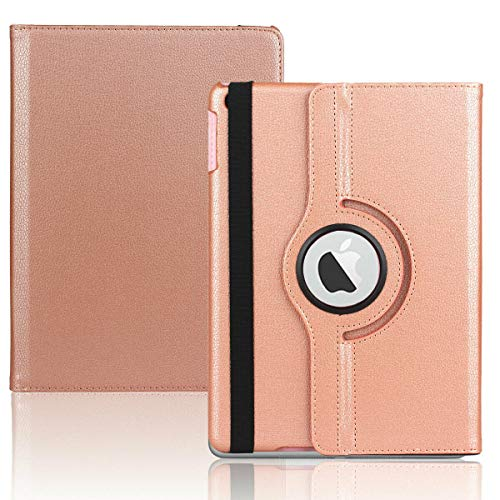 Mobistar iPad 10.2 Case, Case for iPad 10.2 2019, 360 Degree Rotating iPad 10.2 rotating case, Apple iPad 10.2 Cover with Multiple Viewing Angles (Rose Gold)