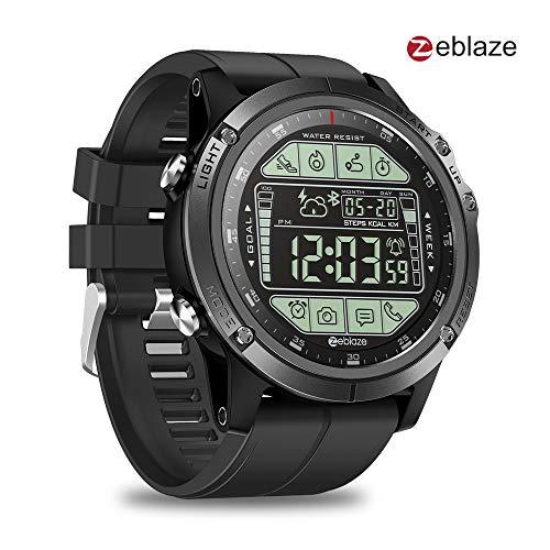 Zeblaze Vibe 3S reloj inteligente resistente para deportes al aire libre, podómetro Bluetooth, distancia 5 ATM 2 años de tiempo en espera, reloj impermeable pulsera de actividad para hombres y mujeres