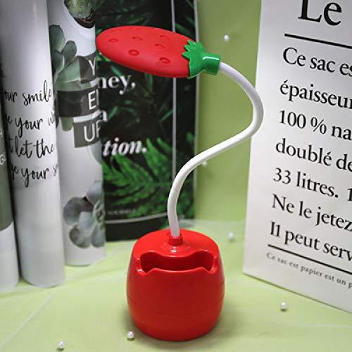 WWWL Lámpara de escritorio frutas luces LED para habitación lámpara de mesa bebé Nightlight USB lámpara de escritorio niños lectura tarea oficina cocina dormitorio decoración fresa