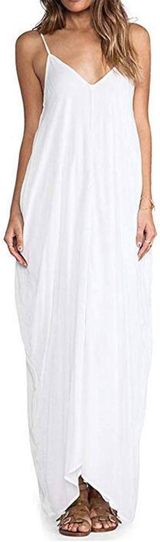 ZANZEA Women's Plus Size Maxi Dress Summer Boho Dress Casual Loose Long Dresses Maxi Sundress Beach Coverup