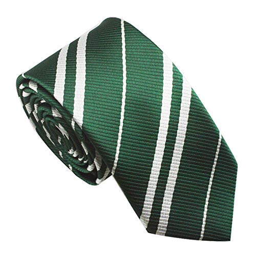 Multiculture Harry Potter Krawatte Gryffindor Ravenclaw Hufflepuff Slytherin Kostüm (Slytherin-grün)
