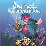 Mermaid Coloring Book: For Kids Ages 4-8, 3-5, mermaid coloring book for kids ages 4-8
