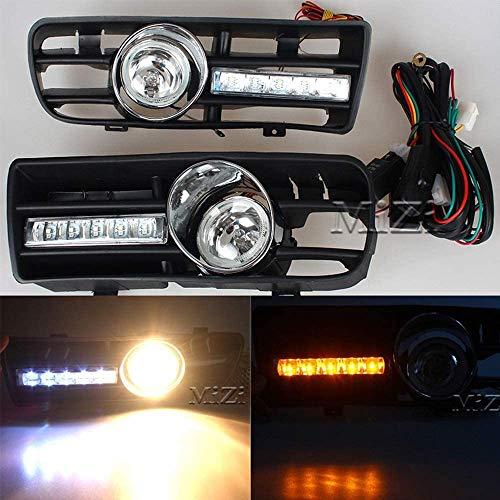 ZQTG 2 Piezas ABS Negro Coche luz antiniebla Accesorios lámpara de conducción lámpara de conducción Rejilla Rejilla del radiador Adecuada para Volkswagen VW Golf 5 MK5 2005-2009
