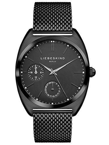 LIEBESKIND BERLIN Damen Analog Quarz Uhr mit Edelstahl Armband, schwarz