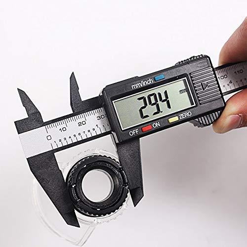 WEI-LUONG Calibrador de 150mm 6 Pulgadas LCD Digital de Regla electrónica de Fibra de Carbono Vernier de micrómetro Herramienta de medición Calibre Digital Suwmiarka