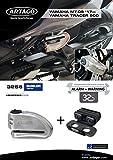 Artago 32S6 Antirrobo Disco Alarma 120db Alta Gama y Soporte Yamaha MT-09 y Tracer 900, homologado Sra y Sold Secure Gold, Acero Inoxidable