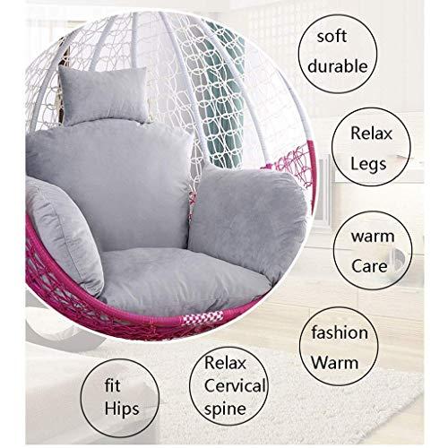 Yuany Egg hangstoel pads, wasbare rotan schommel hangstoel kussen pad voor binnen buiten tuin Patio, breedte: 155 cm (61 inch) (kleur: grijs)