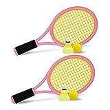 Tennis Racket Set for Children,17 Inch Racquet with 2 Tennis Balls,2 Badminton Balls for Toddler Indoor/Outdoor Sports