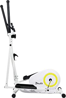 Doufit Elliptical Machine for Home Use, EM-01 Portable Elliptical Trainer for Aerobic Exercise, Cardio Fitness Equipment with LCD Monitor and Adjustable Magnetic Resistance