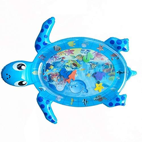ZXYSR Colchoneta de agua para bebés, divertida, hinchable, cojín para silla, para actividades de juego, accesorio para niños, estimulación visual, color azul