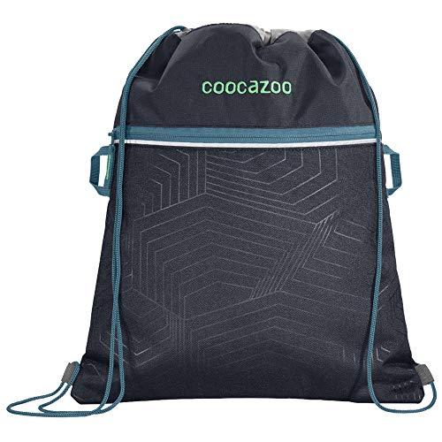 """Coocazoo Sportbeutel RocketPocket2 """"Diveman"""", blau, mit Reißverschlussfach und Kordelzug, reflektierende Elemente, Schlaufen zur Befestigung am Schulrucksack, Jungen ab der 5. Klasse, 10 Liter"""