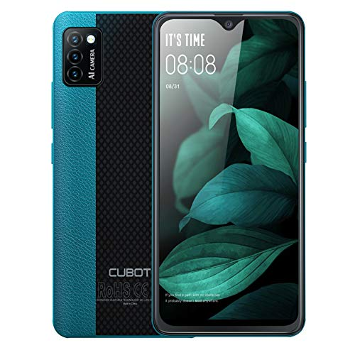 "Unlocked Smartphones, CUBOT Note 7 Android 10 Phone Unlocked, 4G Dual SIM Unlocked Cell Phones, 5.5"" HD Display, Triple Cameras, 2GB/16GB, 128GB Extension, 3100mAh Battery, US Version, Green"