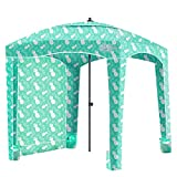 Qipi Beach Cabana - Easy to Set Up Canopy, Waterproof, Portable 6' x 6' Beach Shelter, Included Side Wall, Shade with UPF 50+ UV Protection, Ultimate Sun Umbrella - for Kids, Family - Pineapple Jungle