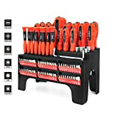 B Bochamtec 100-PC Magnetic Screwdriver Set with Case,Magnetic Tips- Precision Kit,Power Nut Drivers Professional Repair Tool for Home Repair,Improvement,