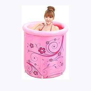 CCDDP Pink Bathtub - Round Inflatable Bathtub Insulated Portable Bathroom Soak Relaxation Body Bathtub