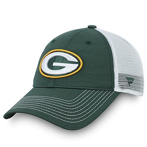 Fanatics Men's Green/White Green Bay Packers Fundamental Trucker Snapback Hat