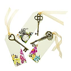 Alice In Wonderland Invitation: key with a tag.