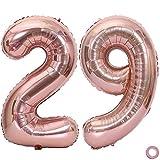 Juland Número de Globos de Oro Rosa Globo de cumpleaños de Hoja Gigante XXL Globos Grandes de Mylar de la Hoja Número de Globos de 40 Pulgadas Jumbo para Decoraciones de Fiesta de cumpleaños - 29