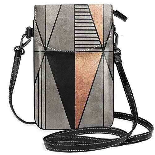 Liliylove Kleine Handtasche aus Beton und Kupfer, dreieckig, leicht, für Damen und Mädchen