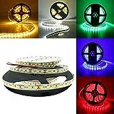 5M SMD 3528 600 LED blanco/caliente blanco/rojo/verde/azul de la tira LED Cinta de luz flexible 12V DC (Color : Red)